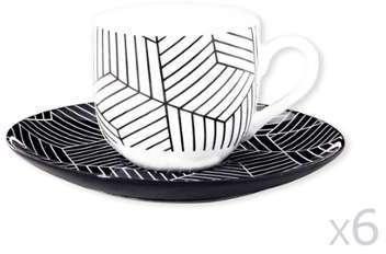 Tasse café noir et blanc à