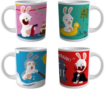 Coffret cadeau de 4 mugs Les