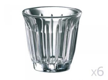 Tasse en verre pressé - H