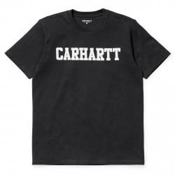 T-SHIRT CARHARTT COLLEGE NOIR