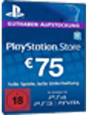 PSN Card 75 Euro DE - Playstation