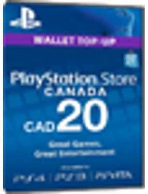 PSN Card 20 CAD Canada - Playstation