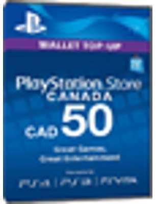 PSN Card 50 CAD Canada - Playstation