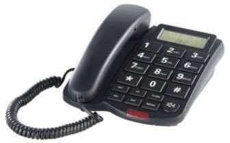 Téléphone fixe à grosses touches