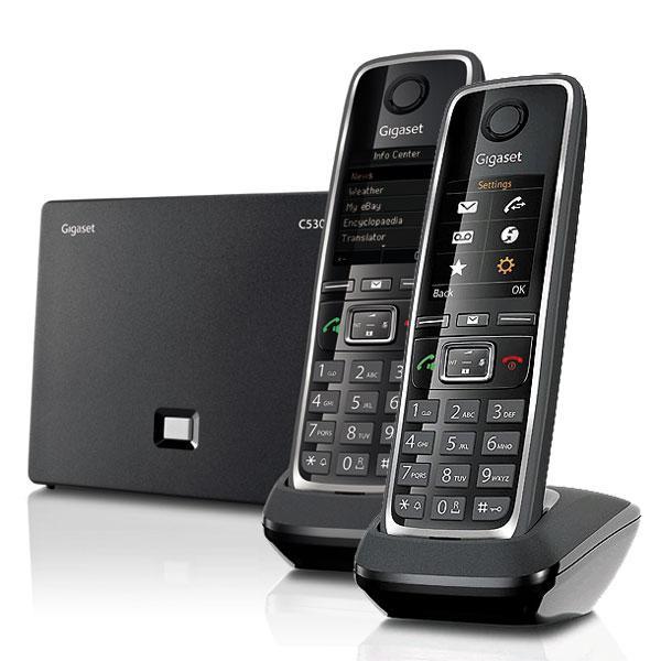 gigaset c530 tlphone dect mains libres son hsp cran 1 8. Black Bedroom Furniture Sets. Home Design Ideas