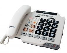 Téléphone filaire avec touches