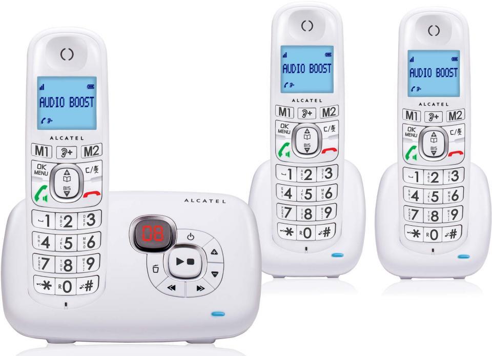 telephone sans fil alcatel xl 385 voice trio blanc. Black Bedroom Furniture Sets. Home Design Ideas