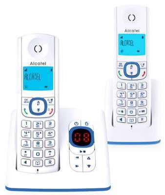 telephone sans fil alcatel f 530 voice duo bleu. Black Bedroom Furniture Sets. Home Design Ideas