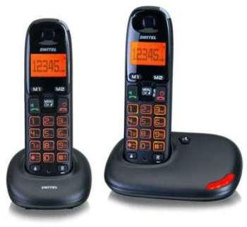 Téléphone duo sans fil amplifié