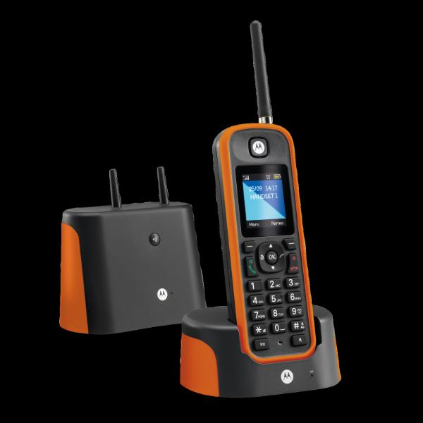T l phone sans fil motorola o201 orange - Telephone sans fil longue portee ...