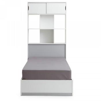 Tête de lit rangeante blanche