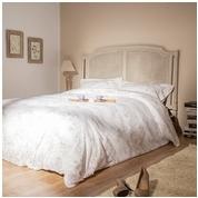 Tête de lit cannée en Acajou