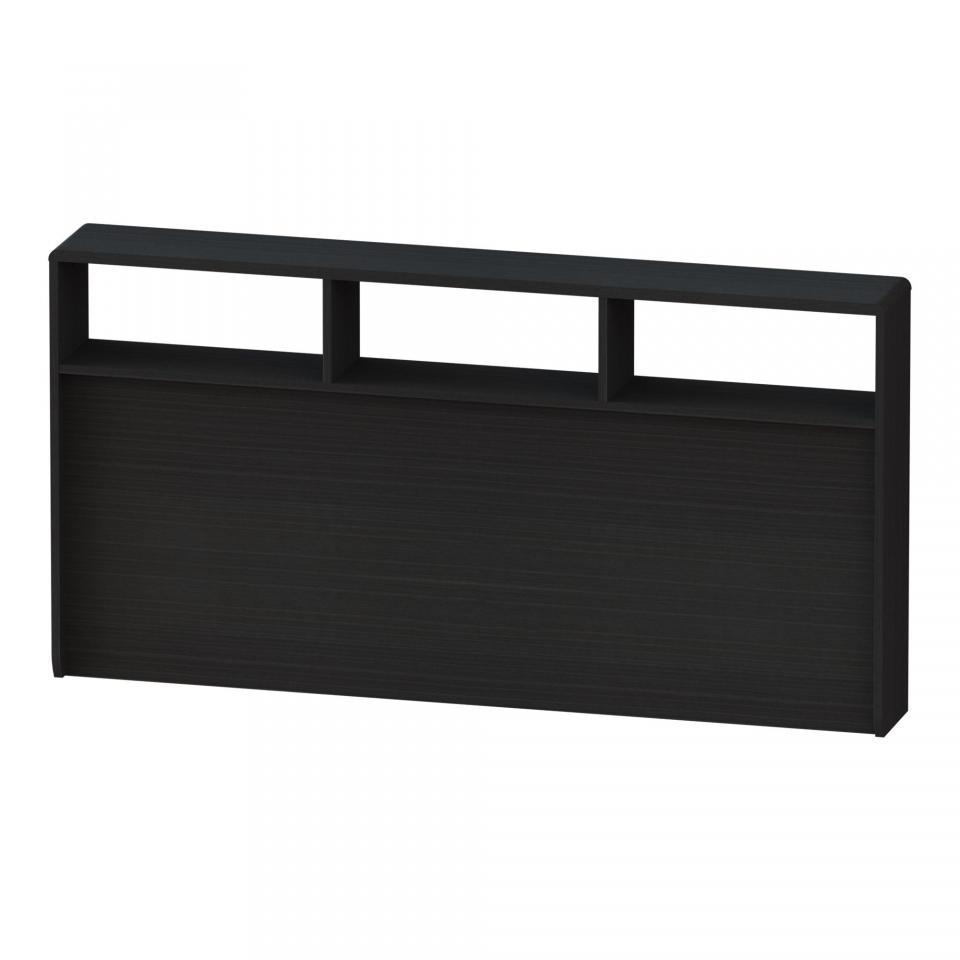 Tête de lit rangeante noire