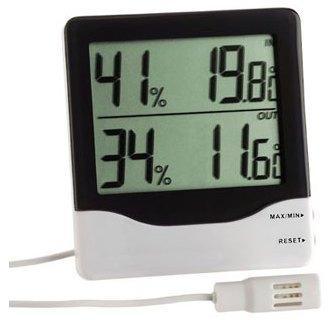 Thermomètre hygromètre filaire
