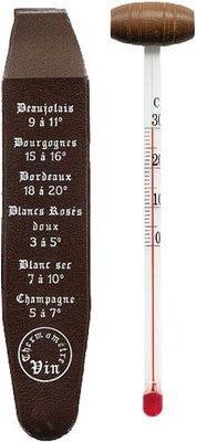 Thermomètre à vin dans son