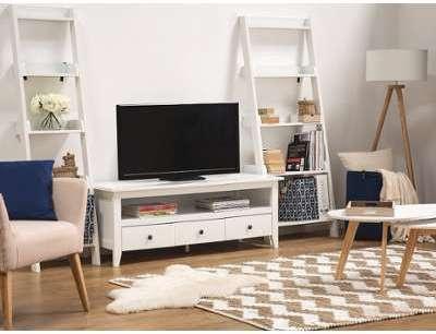Meuble TV blanc à 3 tiroirs