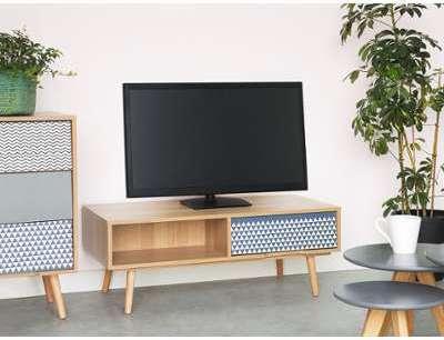 Meuble TV marron avec tiroir