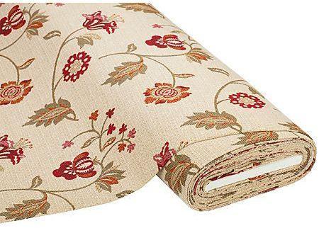 Tissu gobelin Caren fleurs