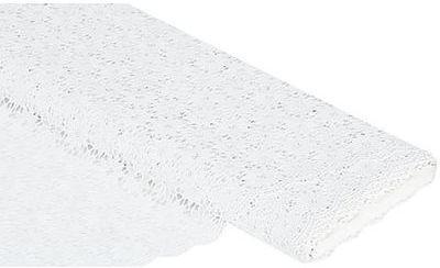 Tissu dentelle en PVC blanc