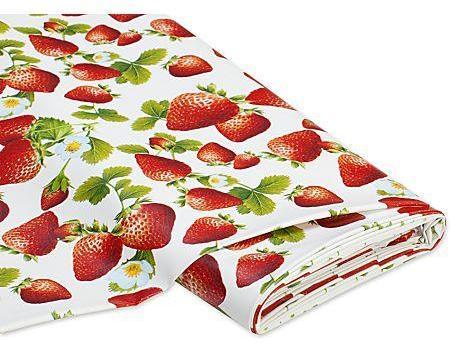 Tissu toile cirée fraises