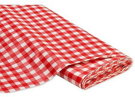 Tissu toile cirée carreaux