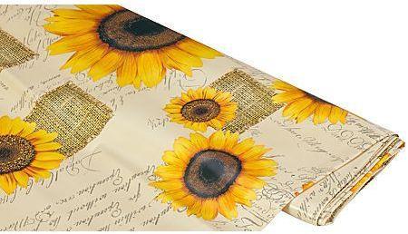 Tissu en toile cirée tournesols