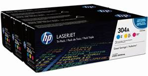 HP 304A - Pack x 3 Toners