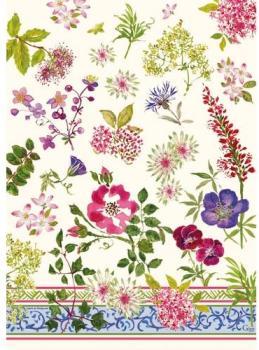 Torchon motif fleuri Millefleurs