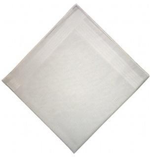 Lot de 2 mouchoirs blancs