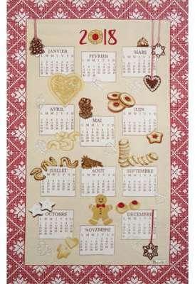 Torchon calendrier Bredalas