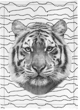 Torchon Tiger Face 50 x 70