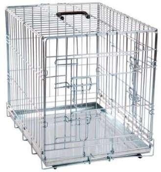 Cage pour chien métallique