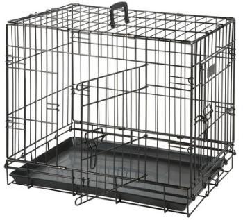 Cage pour chien Noir 2 portes