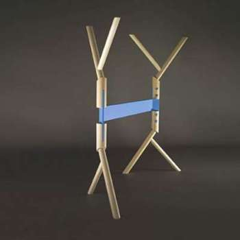 Treteau design en bois branche