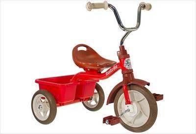 Tricycle métal rouge avec