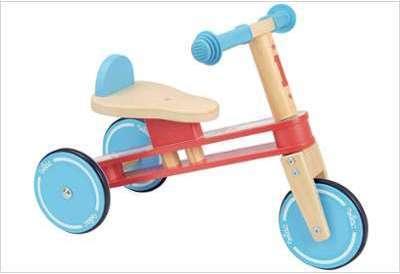 Tricycle en bois sans pédale