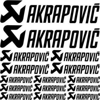 Kit stickers akrapovic