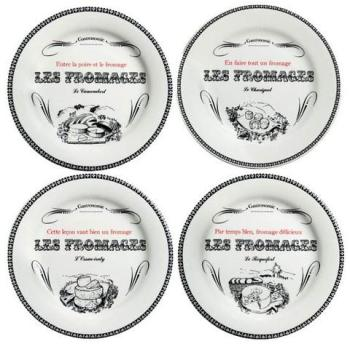Lot de 4 assiettes à fromage