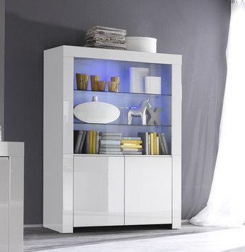 Vaisselier blanc laqué design
