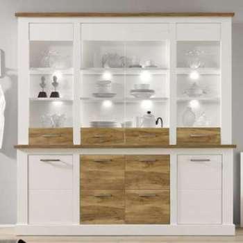 Vaisselier bois et blanc moderne