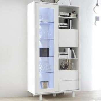 Vaisselier design blanc laqué