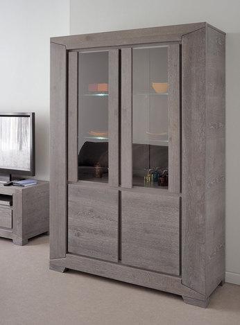 Vaisselier chêne gris contemporain