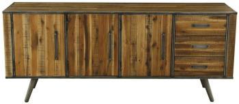 Buffet 3 portes bois et métal