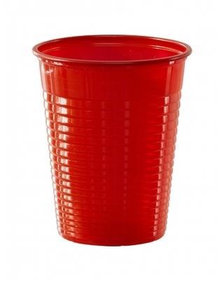 50 Gobelets en plastique rouge