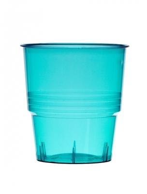 10 Gobelets en plastique turquoise