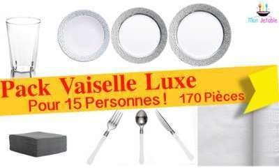 Pack Vaisselle Luxe Pour 15