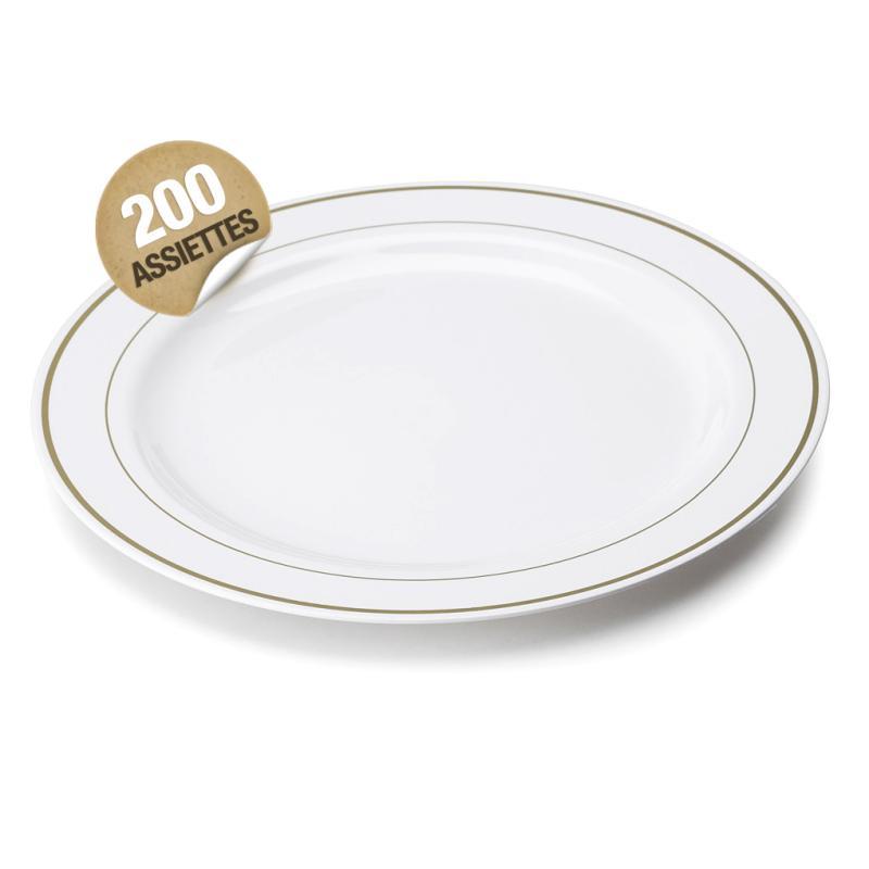 Assiette en plastique rigide