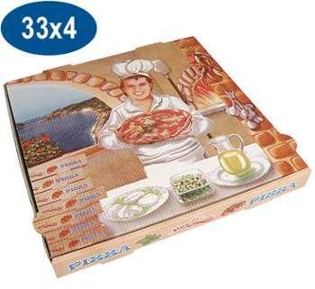 Boite pizza en carton 33x33x4
