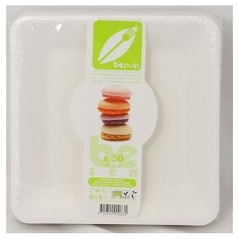 50 assiettes carrées biodégradables