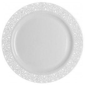 10 ASSIETTES LUXE BLANCHES